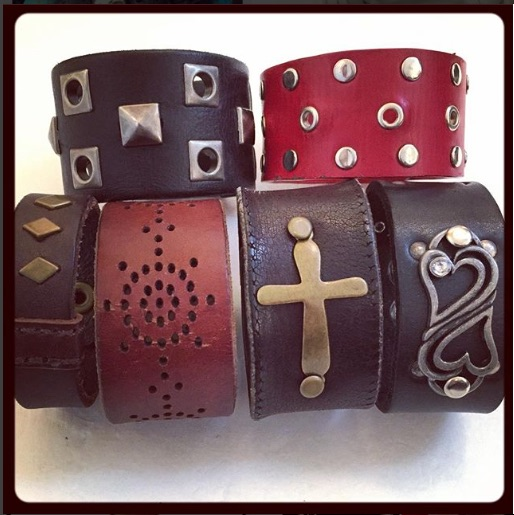 nightMair Creations leather cuffs